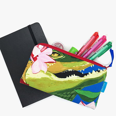 Stiftetasche mit Motiv Krokodil