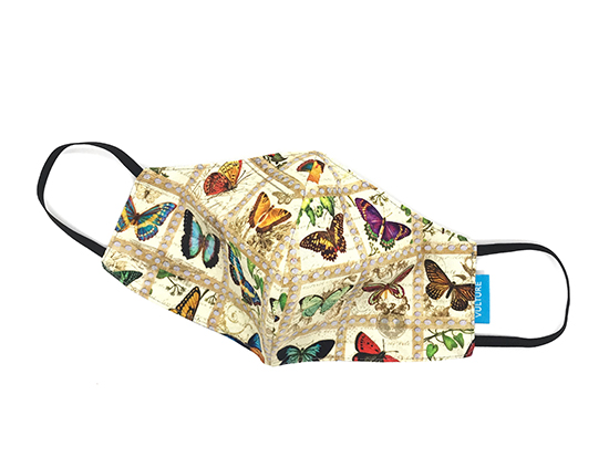 Abdeckung Mund Nase Schmetterlinge