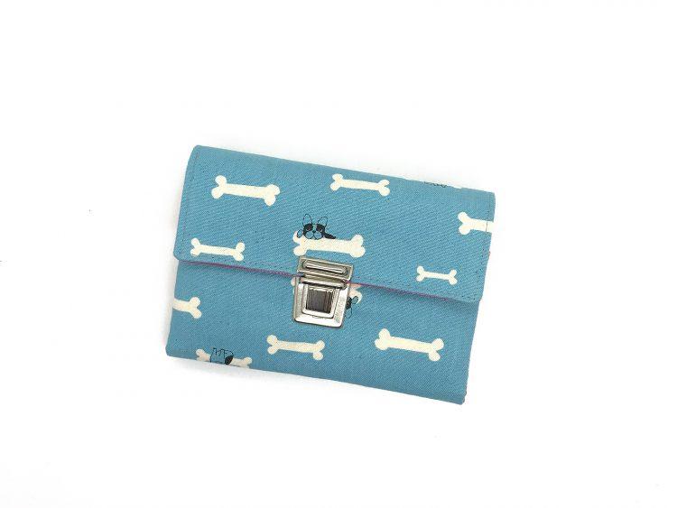 Portemonnaie blau mit Hunden