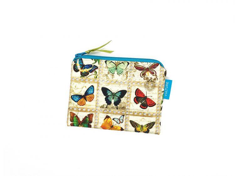 kleine Kosmetiktasche mit Schmetterlingen