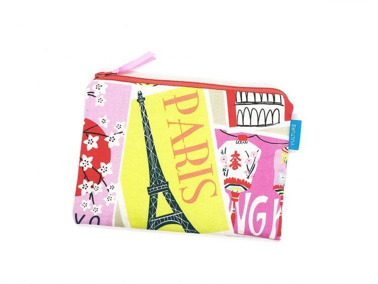 flache Kosmetiktasche Paris/New York